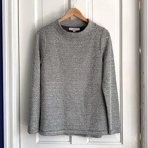 LOFT soft boucle sweatshirt top w mock neck NEW